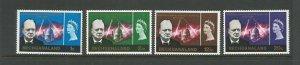 Bechuanaland 1966 Churchill Commemoration Light Mounted Mint SG 194/7