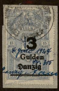 Danzig Germany Preussen Prussia 3 Gulden Stempelmarke Document Revenue Sta 90855