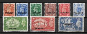 Great Britain Offices in Morocco 550-58 set Used