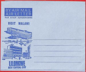 aa2305  -  MALAWI  - Postal HISTORY -  Aerogramme COVER