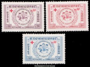 Cambodia Scott B8-B10 Mint never hinged.