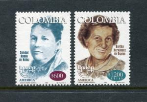 Colombia 1151-1152, MNH, Famous People America issue 1999. x23458
