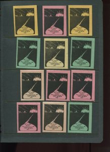 VINTAGE LOT OF 12 1931 MAGIC Poster Stamps SOCIETY OF AMERICAN (L1121)