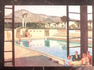 1945 Us Army Postal Italian Postcard Cover To Milford CT Pool Of The Restaurant