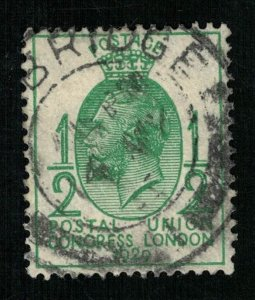 1929 Great Britain Postal Union congress London 1/2P (TS-447)