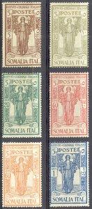 Somalia Sc# B11-B16 MH 1926 Colonial Institute Semi Postal Overprint