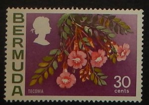 Bermuda 267a. 1976 30c QE Pictorial, watermark upright