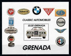[100239] Grenada 1983 Classic Cars 1972 Cougar XR 7 Souvenir Sheet MNH