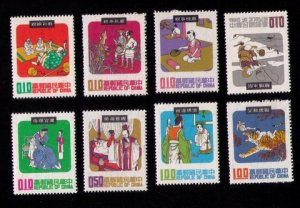 ROC Sc 1666-1673 MH China Complete Set (8 Stamps) Very Fine (1970):