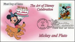 AO-3912–2, 2005, The Art of Disney Celebration, Pictorial Postmark, Mickey Mouse
