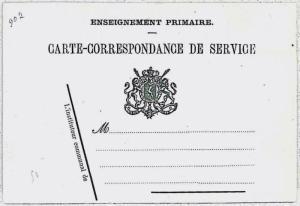 BELGIUM Belgique: entier postal SERVICE POSTAL STATIONERY: ENSEIGNEMENT PRIMAIRE