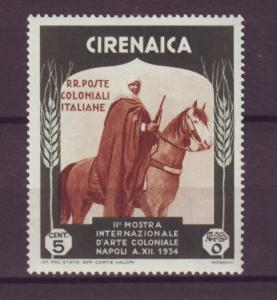 J21206 Jlstamps 1934 italy cyrenaica part of set mh #59 horse rider