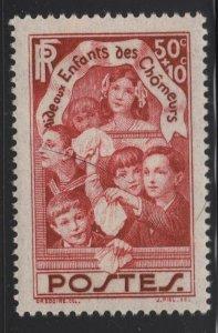 France 1936 50c + 10c Children of Unemployed Sc# B46 NH