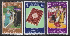 British Virgin Islands #317-19 F-VF Mint NH ** QE II Silver Jubilee