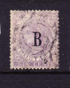 BANGKOK 1882-85  6c LILAC  QV  FU    SG 19