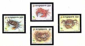 Singapore 637-40 MNH 1992 Crabs         (KA)