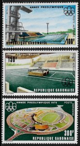 Gabon #C166-8 MNH Set - Olympics