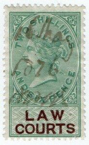 (I.B) QV Revenue : Law Courts (Scotland) 2/6d (1878)