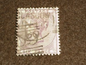 1855 GB Stamps QV SG69 6d Six Pence DEEP LILAC FINE USED GLASGOW Cancel