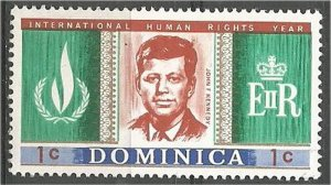 DOMINICA, 1968, MNH 1c, Human Rights Scott 206