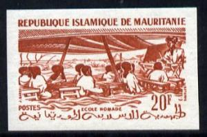 Mauritania 1966 Nomad School 20f (from def set) IMPERF co...