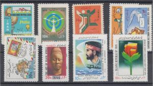 Iran Sc 1512/2406 MNH. 1969-90 issues, 8 complete sets, fresh, F-VF