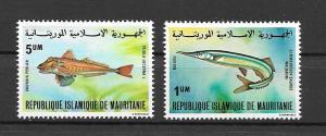 ### MAURITANIA MNH SET SC#431 A B FISH SCV$1.50