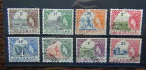 Basutoland 1954 - 58 values to 2/6 Used