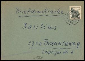 Germany Postal Stationery Ganzsachen Cutout Used on Bundes BRD Cover 70704