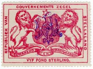 (I.B) Stellaland (Bechuanaland) Revenue : Duty Stamp £5