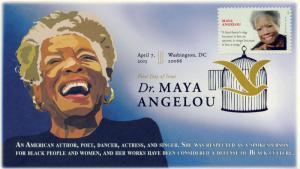 2015, Dr Maya Angelou, DCP Postmark, FDC, 15-087