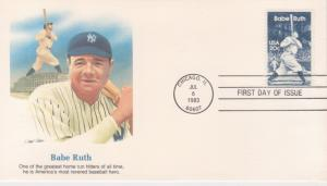 1983 BABE RUTH 20 Cent FDC, Fleetwood