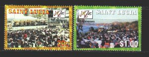 St Lucia. 2001. 1146-47 from the series. Jazz festival. MNH.