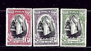 Tonga 70-72 MH 1938 set