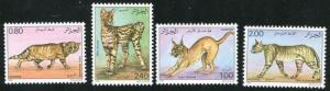 100 MNH COMPLETE SETS OF ALGERIA 1986 WILD CATS - $915.00 VALUE - WHOLESALE LOT!