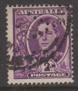 Australia Sc#193 Used G NSW Perfin