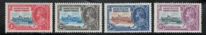 Bechuanaland 1935 Silver Jubilee Omnibus Issue Scott # 117 - 120 MH