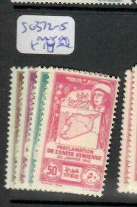 SYRIA   (PP0106B)  MAP   SG 372-5     MNH