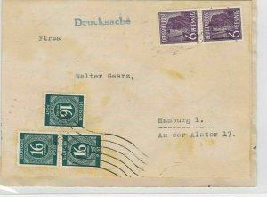 German Postal History Stamps Cover Ref: R4621