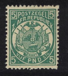 Transvaal £5 Deep Green REPRINT perf 12? SG#187