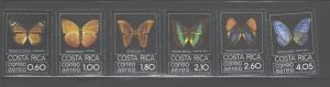 COSTA RICA 1979  BUTTERFLIES  #C759 - C764  MNH