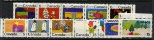 Canada 523ap,528ap,529p-30p MNH Christmas, Children's Art
