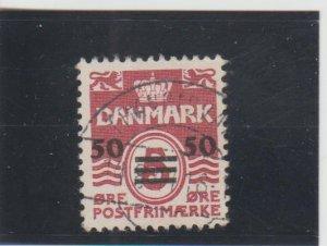 Faroe Islands  Scott#  5  Used  (1940 Surcharged)