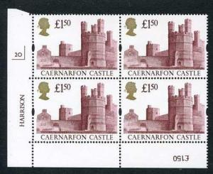SG1612 1992 One Pound Fifty Castle Plate 2O Normal Paper U/M