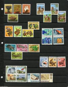 PAPUA NEW GUINEA  LOT OF STAMPS AND SOUVENIR SHEETS   MINT NH