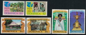 Dominica #441-6a* NH CV $2.95 2 complete sets & Souvenir sheet