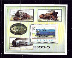 Lesotho 978 MNH 1993 Trains S/S