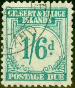Gilbert & Ellice Islands 1940 1s6d Turquoise-Green SGD8 V.F.U