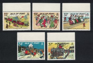Isle of Man Edwardian Postcards 5v Margins SG#433-437