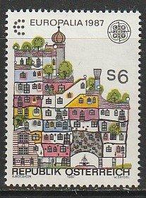 1987 Austria - Sc 1389 - MNH VF - 1 single - Hundertwasser House